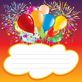 pic of office party  - Text area under balloons and festive elements - JPG