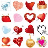 Mega collection hearts-vector id=46264570