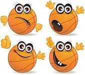 Cartoon basketball fan vector