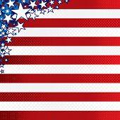 Plano de fundo estilizado americano