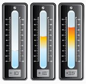 Thermometers with Celsius and Fahrenheit scale. (vector id=59548483)
