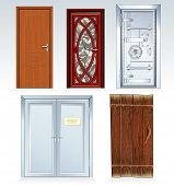 Doors Collection -inc wooden door, front door, vault door, office doors, obsolete rural door.(simila