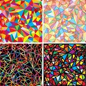 Conjunto de mosaico caótico de Vector
