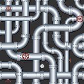 Resumen Antecedentes Industrial con la construcción de tuberías caótica - todo vector elementos separados