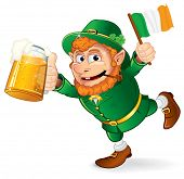 St Patrick's Day traditional celebration symbol - Colorful Cartoon illustration of a Happy Smiling L