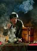 Porträt eines Mannes im militärischen Stil 1
