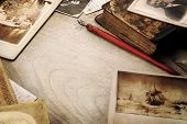 foto of vintage antique book  - Vintage background - JPG