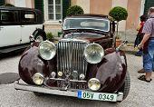 RATIBORICE, CZECH REPUBLIC - AUGUST 7: IX. Vintage car show - Jaguar model from 1930s. August 7, 2010 in Ratiborice Castle, Czech Republic