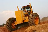 foto of road construction  - grader road construction machine - JPG