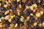Mixed Raisins Close Up