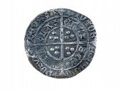Hammered Silver Groat Of Henry Vi 143-1431 Reverse