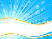 Sunshine banner with transparencies, horizontal