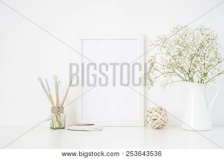 Stylish White Frame Mockup A4