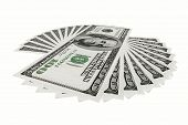 3D Render $100 Dollar Bill