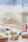 picture of plumbing  - Plumbing tools and materials - JPG