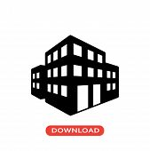 3d Buildings Vector Icon Flat Style Illustration For Web, Mobile, Logo, Application And Graphic Desi poster
