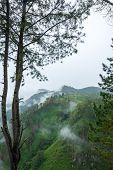 Panoramic View Of Island Sumatra In Rainy Season, Indonesia poster