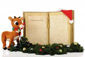 stock photo of rudolf  - A giant book with the words  - JPG