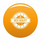 Quality Logo. Simple Illustration Of Quality Logo For Any Design Orange poster