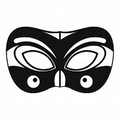 Eyes Carnival Mask Icon. Simple Illustration Of Eyes Carnival Mask Icon For Web Design Isolated On W poster