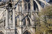 Notre Dame De Paris Church Cathedral, Photo Image A Beautiful Panoramic View Of Paris Metropolitan C poster