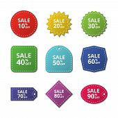 Discount Stickers. Special Price Offer Sale Labels. Merchandise Vector Tags. Illustration Of Discoun poster