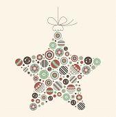 Abstract Christmas Star Vector