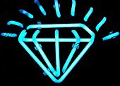 Vintage Neon Diamond Sign