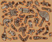 animals drawings aboriginal australian style