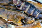 Hot Smoked Fish. Smoke. Smoked Meat. Smoked Fish. Smoking Room Cooked At The Stake. Perch. Smoked Fi poster