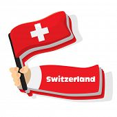 Flag of switzerland icon, vector flags of europe series.