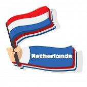 Flag of netherlands icon, vector flags of europe series.