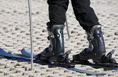 Skier On A Dry Ski Slope