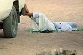 Arabian Man-Driver Sleeping