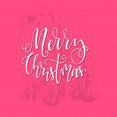 Handdrawn Christmas Lettering For Greeting Cards And Invitations. Isolated Elements Easy To Use. New poster