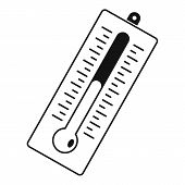 Big Thermometer Icon. Simple Illustration Of Big Thermometer Icon For Web poster