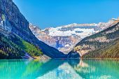 Lake Louise With Mount Victoria Glacier In Banff National Park poster