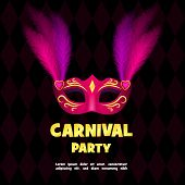 Carnival Party Logo. Realistic Illustration Of Carnival Party Logo For Web poster