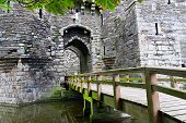 picture of anglesey  - Entrance to Beaumaris Castle in Anglesey Wales UK - JPG