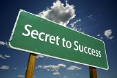 Secret To Success Road Sign
