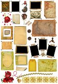 A Set Of Scrap Elements, Picture Frames, Photo Edges