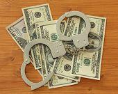 Dollar Bills With Handcuffs