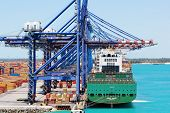 Freeport, Bahamas, Container Terminal Loading Ship