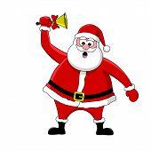 Funny Santa And Bell