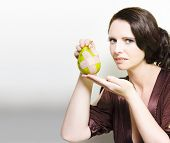 Woman Holding Bruised Fruit