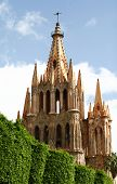 Vintage Catholic Cathedral, Gothic Style