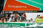 Groupama Trimming As Media Crew Member Captures The Moment