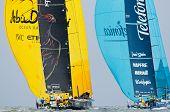 Abu Dhabi Ocean Racing & Telefonica Dueling Downwind