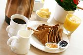picture of orange-juice  - classic breakfast of coffee - JPG
