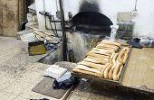 Постер, плакат: Местное хлебобулочные свежий хлеб старый город Иерусалим Палестины Израиль
